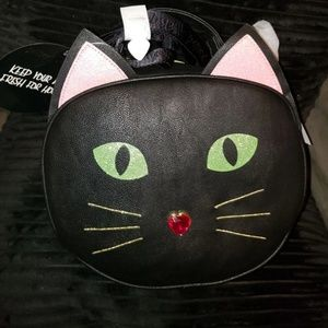 KITSCH BLACK CAT INSULATED COOLER BAG NWT